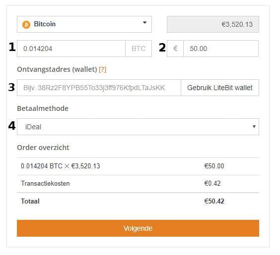 Cryptocurrency kopen Bancontact formulier